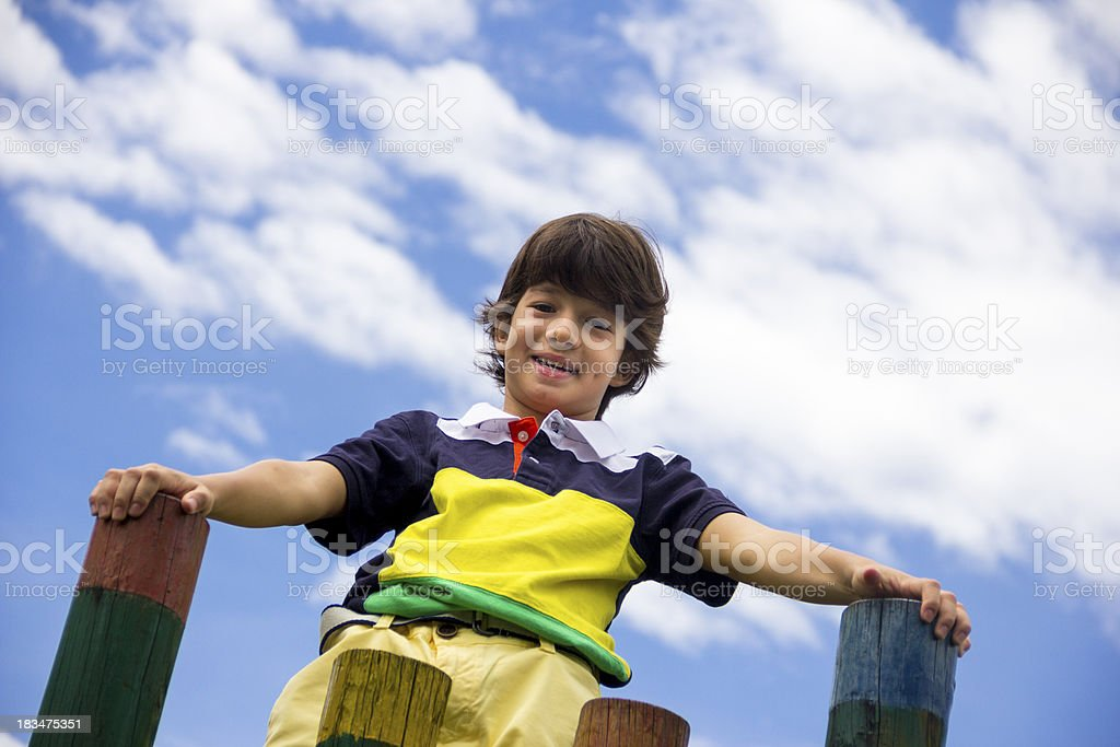 Happy kid sight in the future royalty-free stock photo