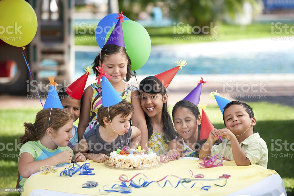 Happy kids enjoying the party royalty-free stock photo