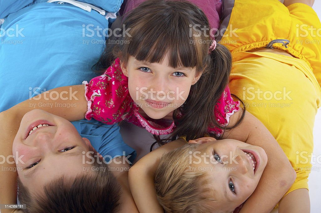 Happy kids playing stock photo