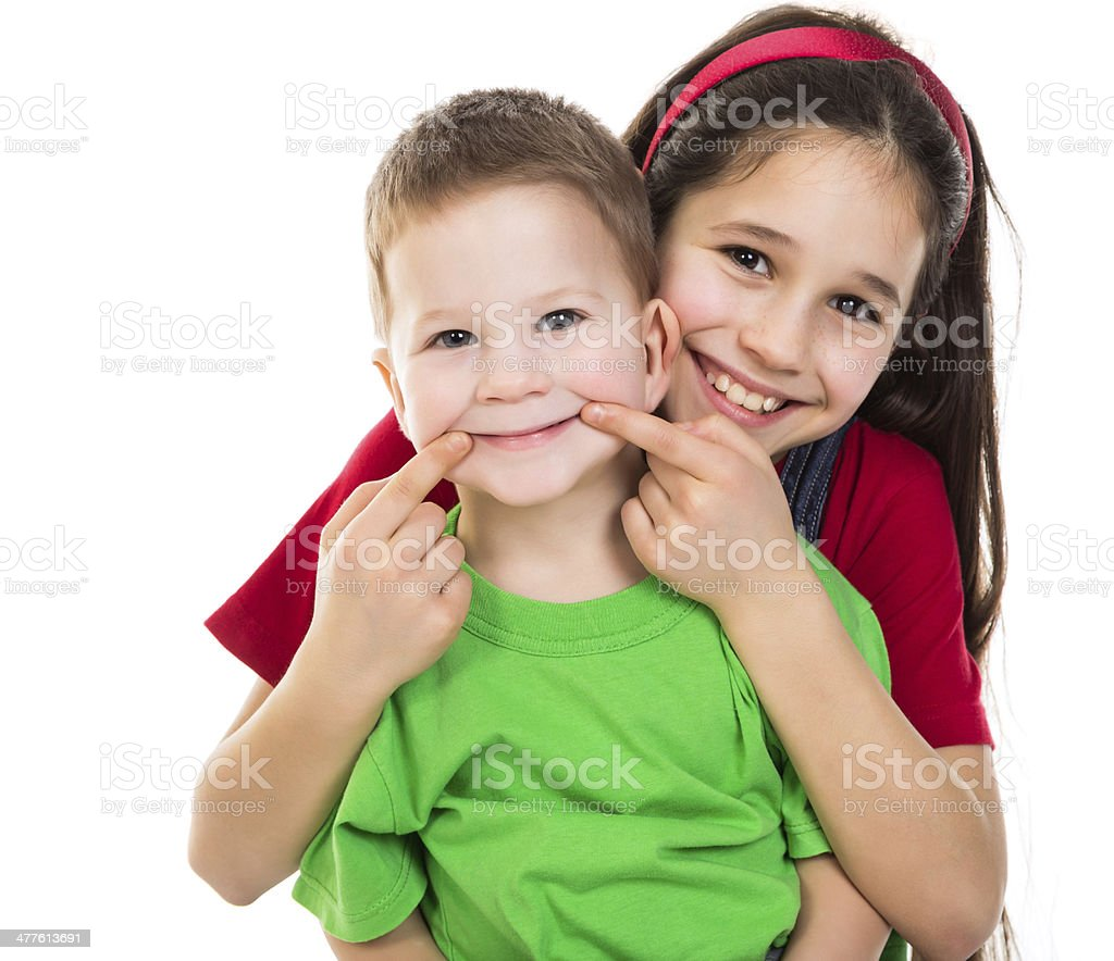 Happy kids together stock photo