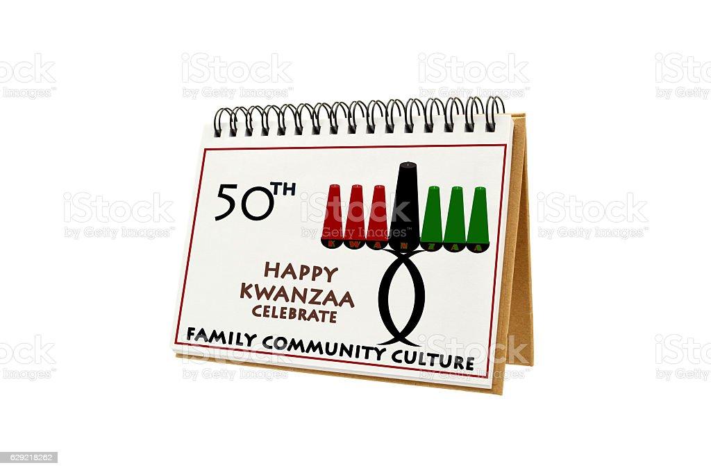 Happy Kwanzaa Calendar stock photo