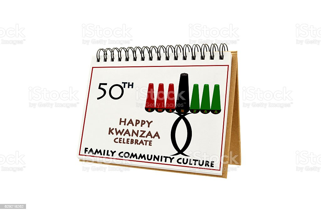 Happy Kwanzaa Calendar stock photo