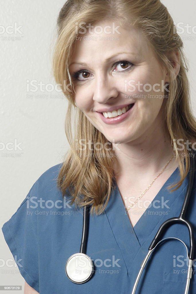 Happy Lady Doc royalty-free stock photo