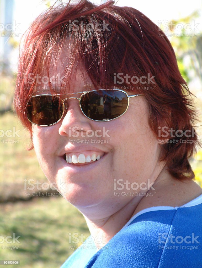 happy lady royalty-free stock photo