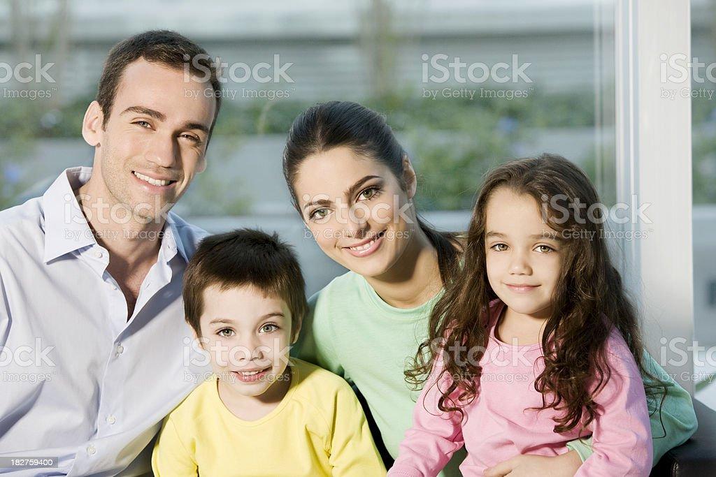 Happy Latin Family royalty-free stock photo