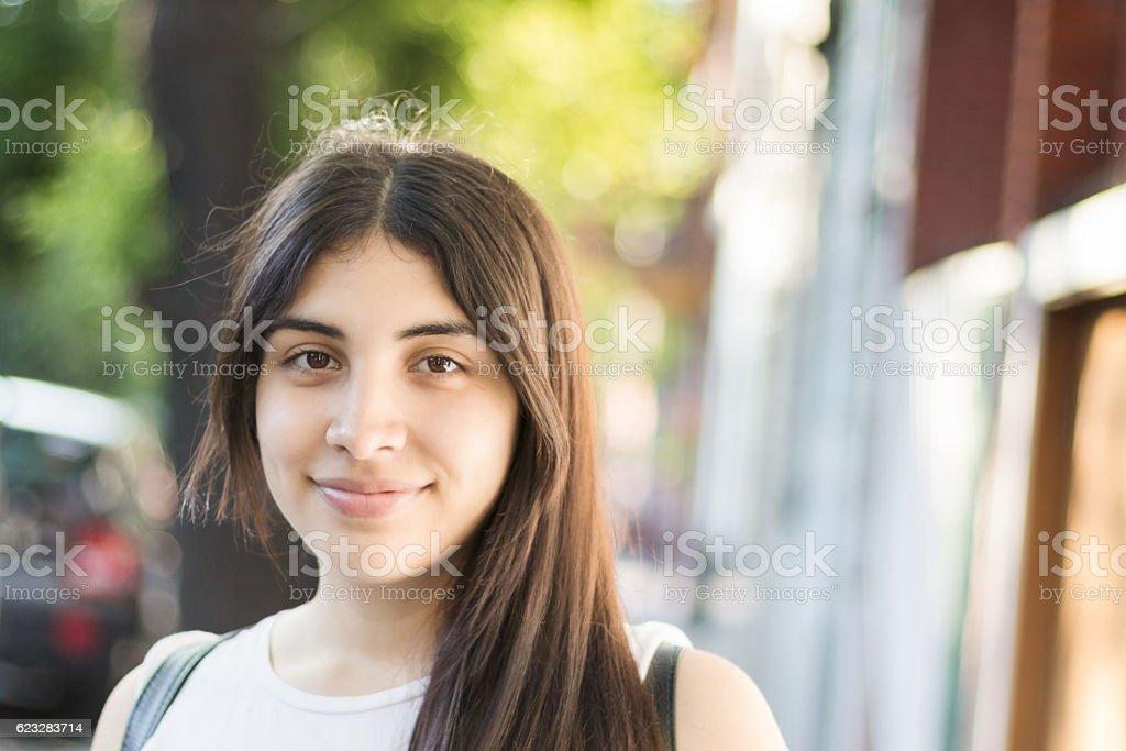 Happy Latina Young Woman stock photo