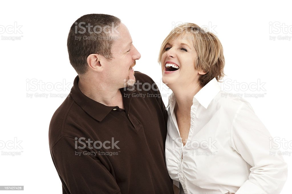 Happy Laughing Mature Couple royalty-free stock photo