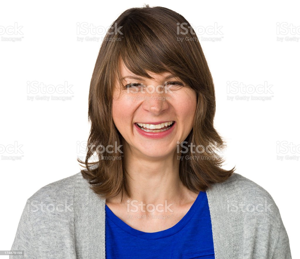 Happy Laughing Woman Portrait royalty-free stock photo