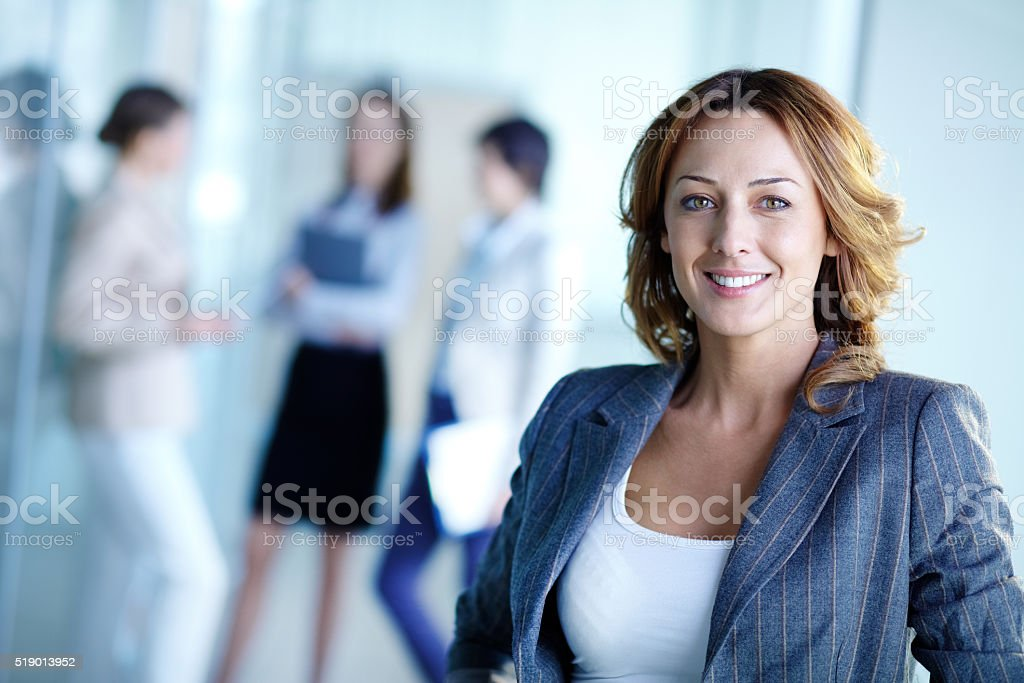 Happy leader stock photo