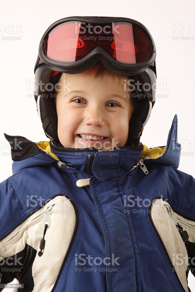 Happy Litte Skier stock photo