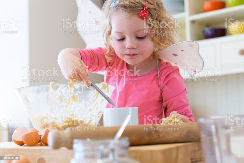 Happy Little Baker stock photo