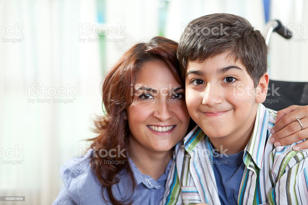 Happy Little Boy and Mother royalty-free stock photo