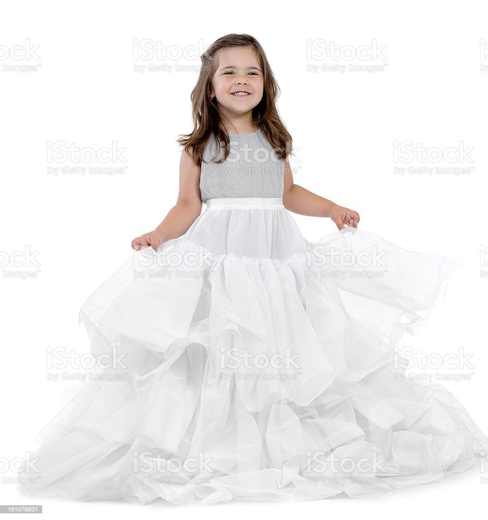 happy little bride stock photo