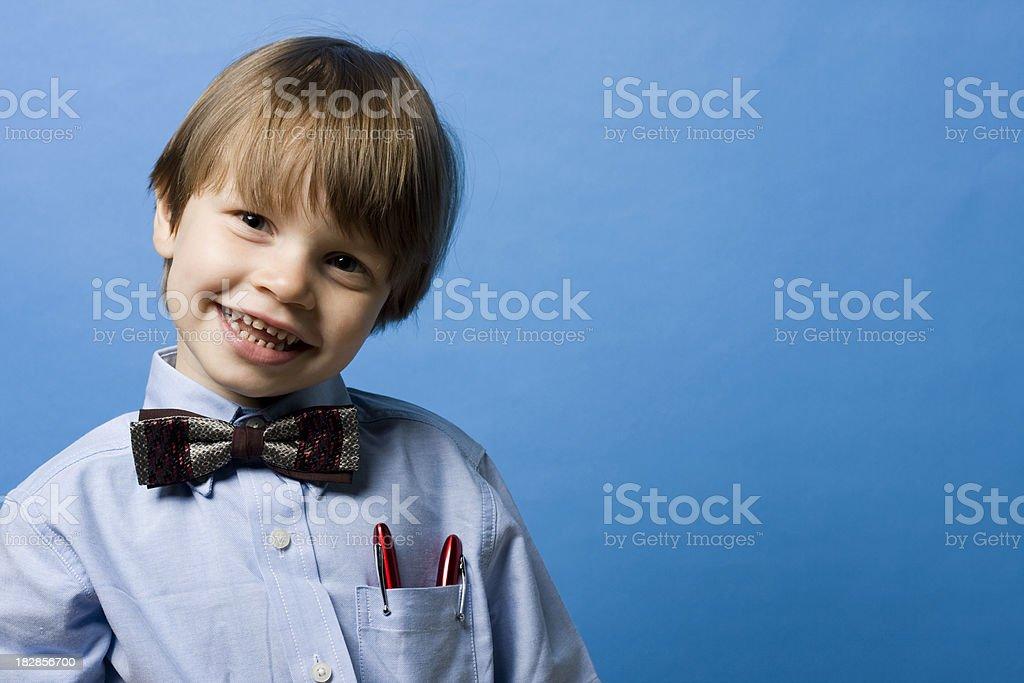 Happy Little Businessman stock photo
