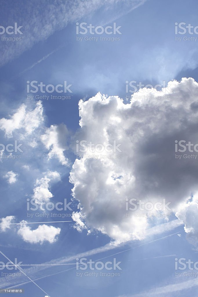 happy little cloud royalty-free stock photo