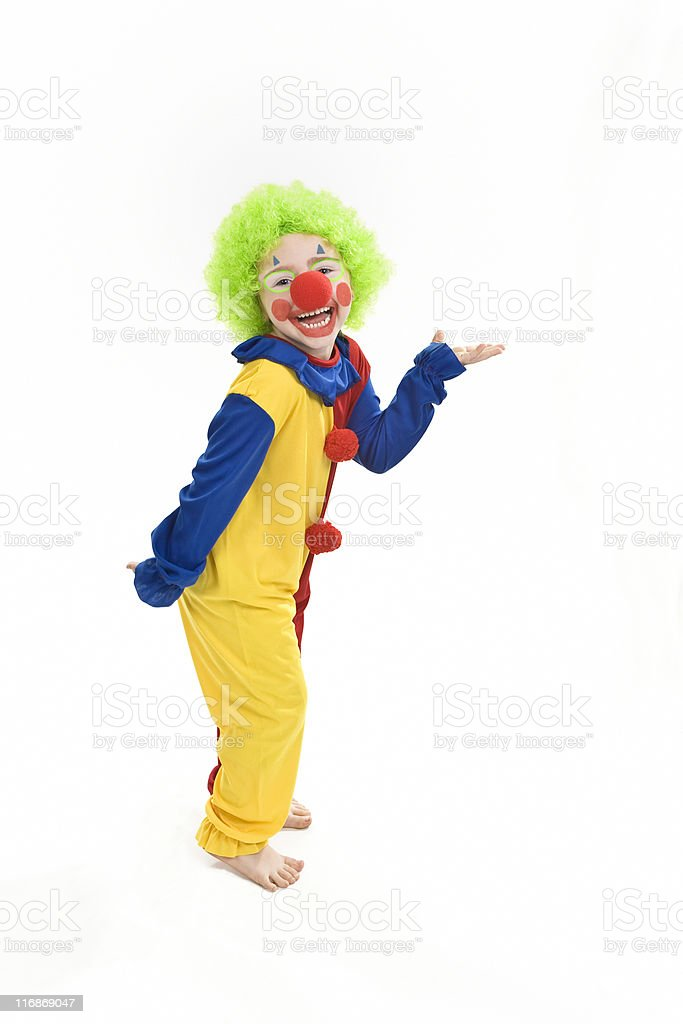 Happy Little Clown royalty-free stock photo