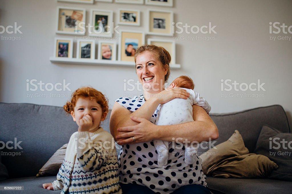 Happy Little Family stock photo