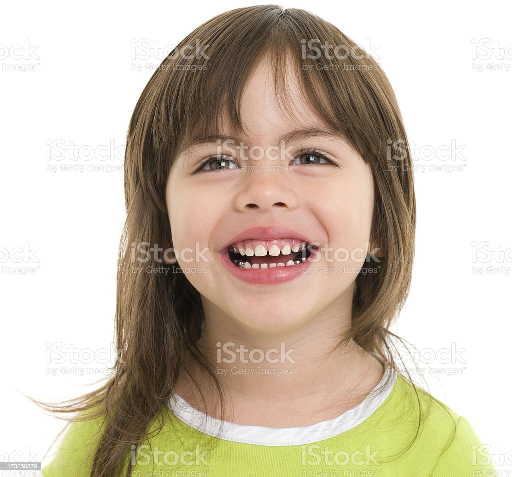 Happy Little Girl Close Up royalty-free stock photo