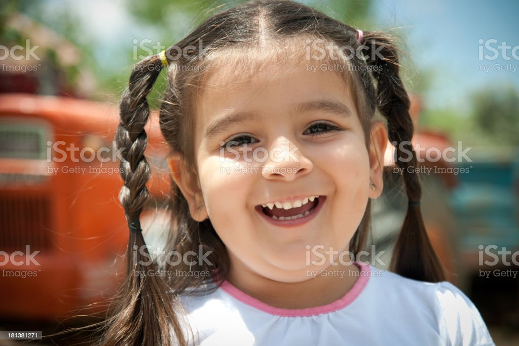 happy little girl royalty-free stock photo