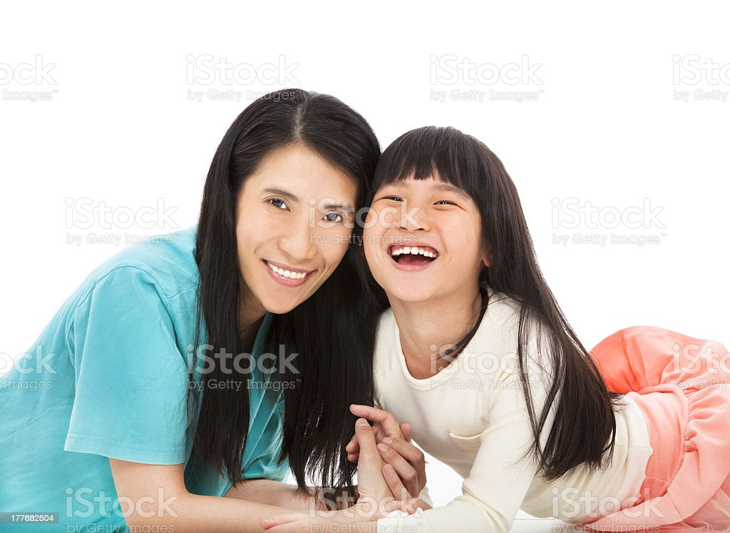 happy little girl  with her mother royalty-free stock photo