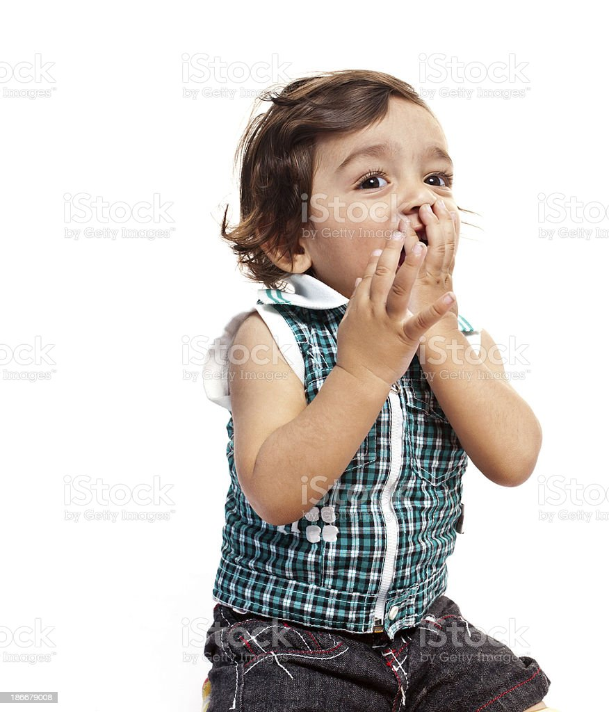 Happy Little Indian Boy Child royalty-free stock photo
