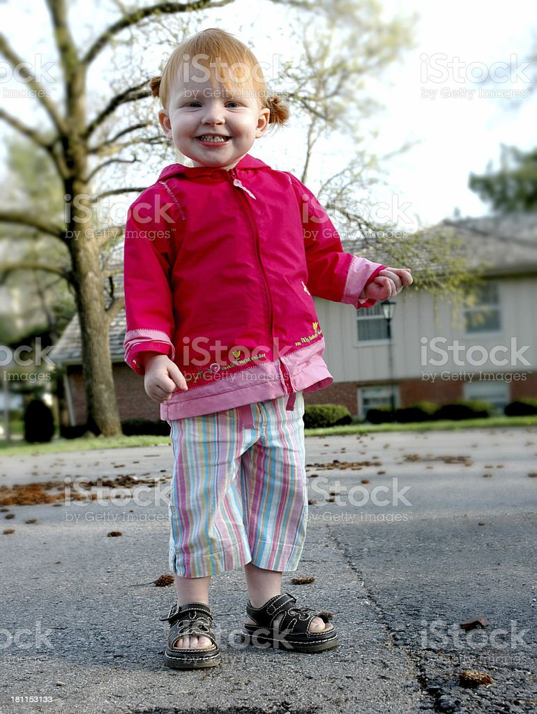 Happy Little Redhead stock photo
