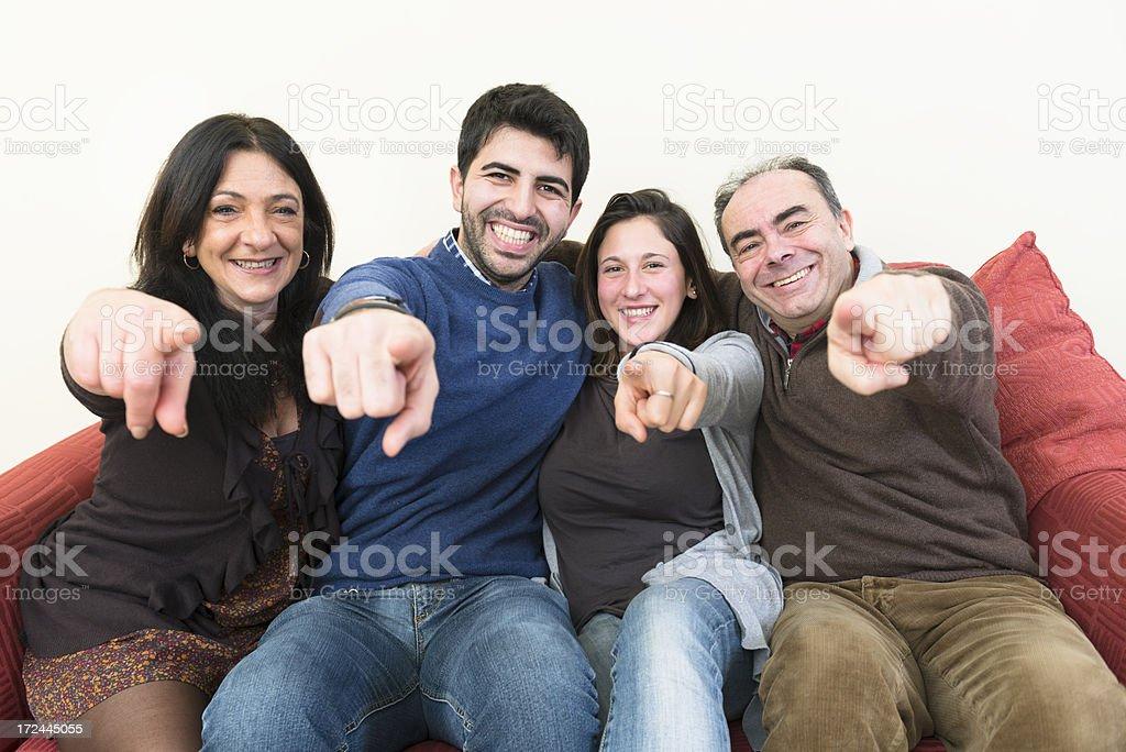 Happy lovely family happiness royalty-free stock photo