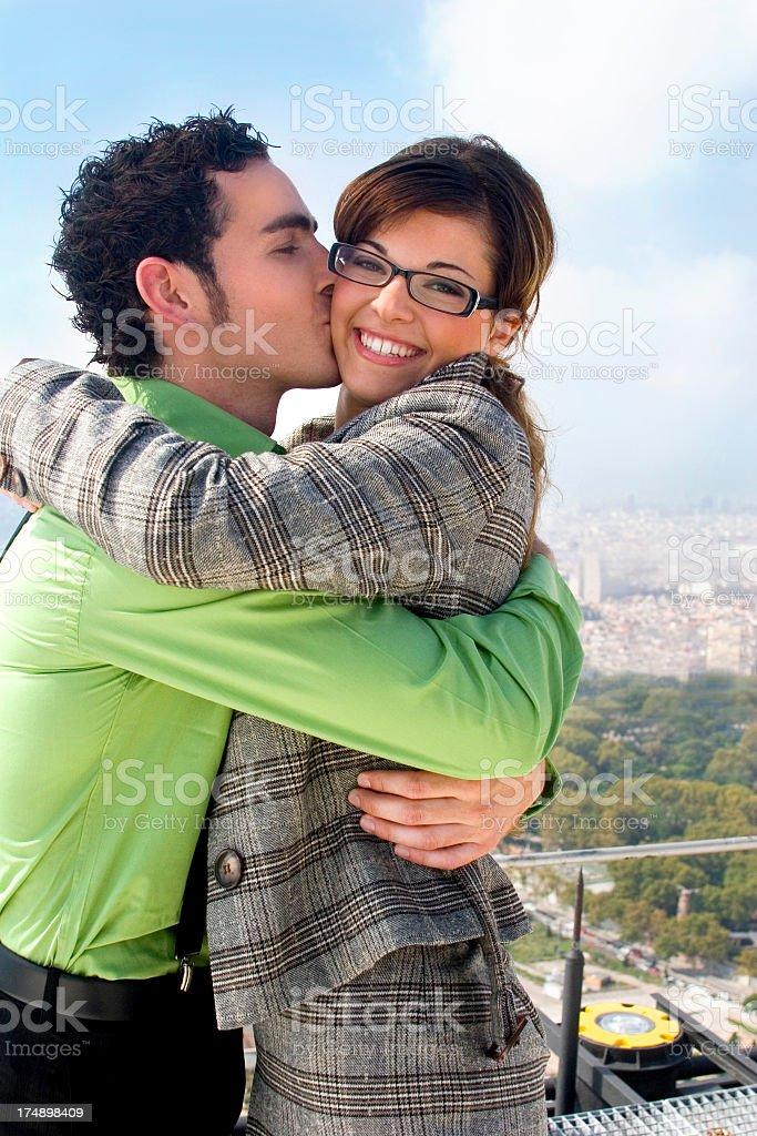 Happy Loving City Couple royalty-free stock photo