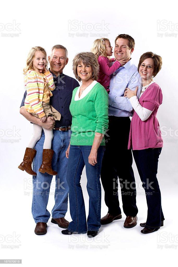 happy loving family royalty-free stock photo