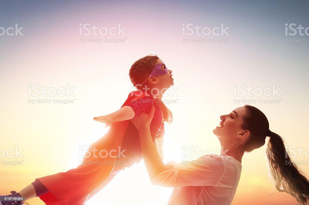 Happy loving family stock photo
