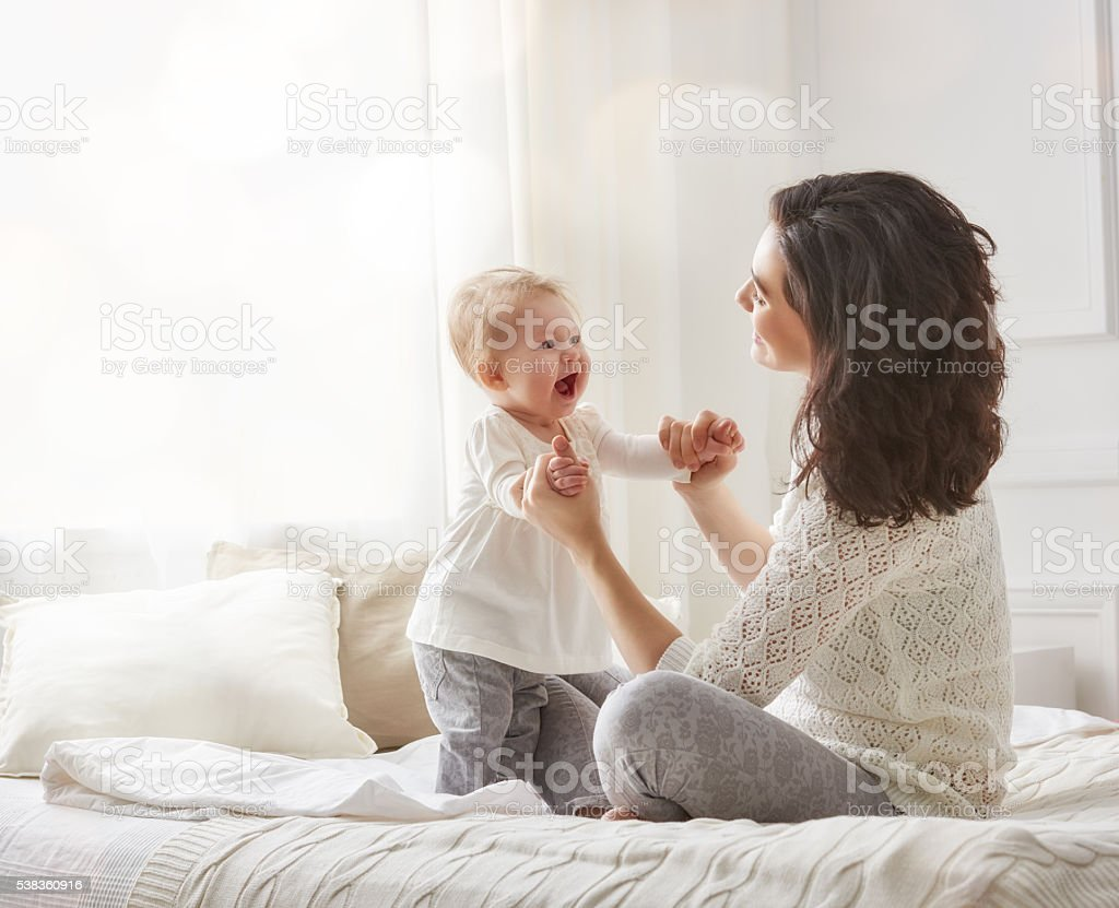Happy loving family. stock photo