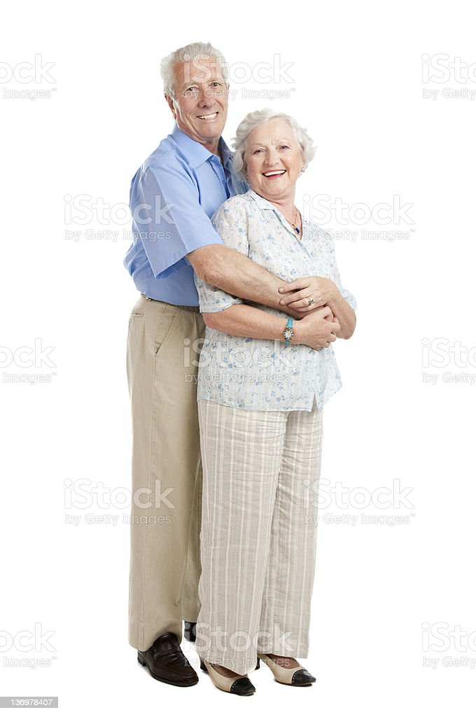 Happy loving seniors royalty-free stock photo