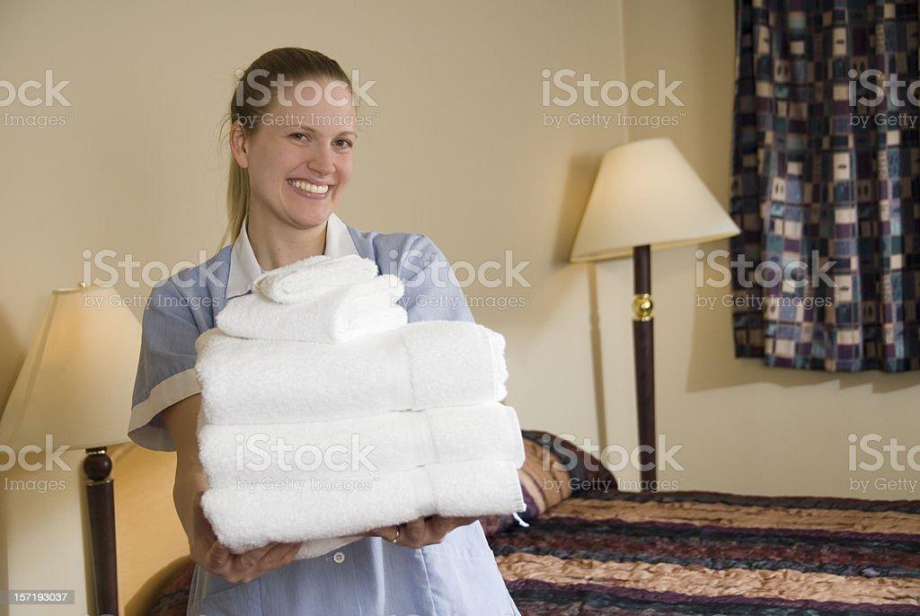 Happy Maid royalty-free stock photo