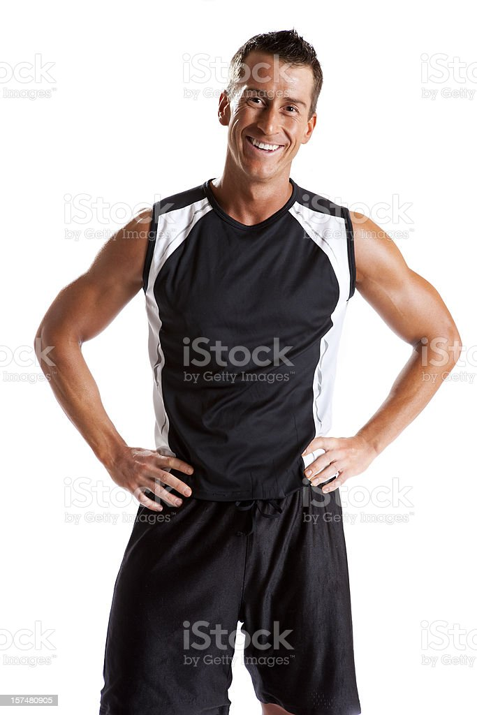 Happy Male Fitness Portrait royalty-free stock photo