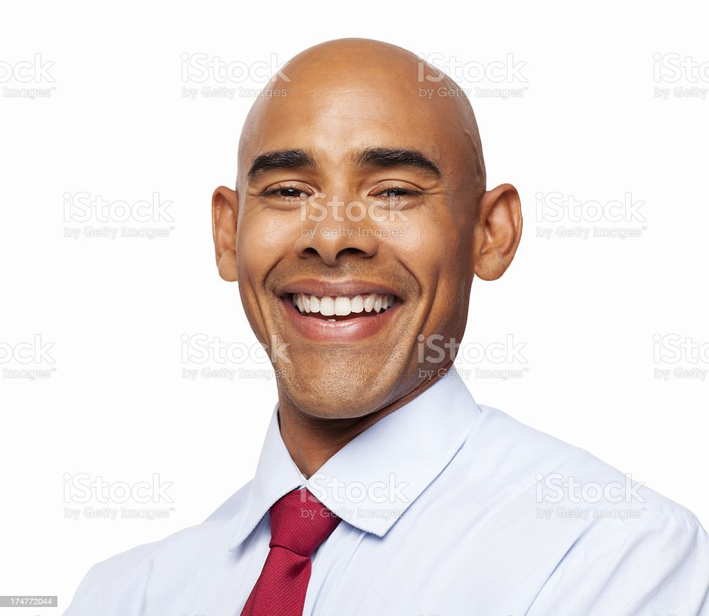 Happy Male Professional - Isolated royalty-free stock photo