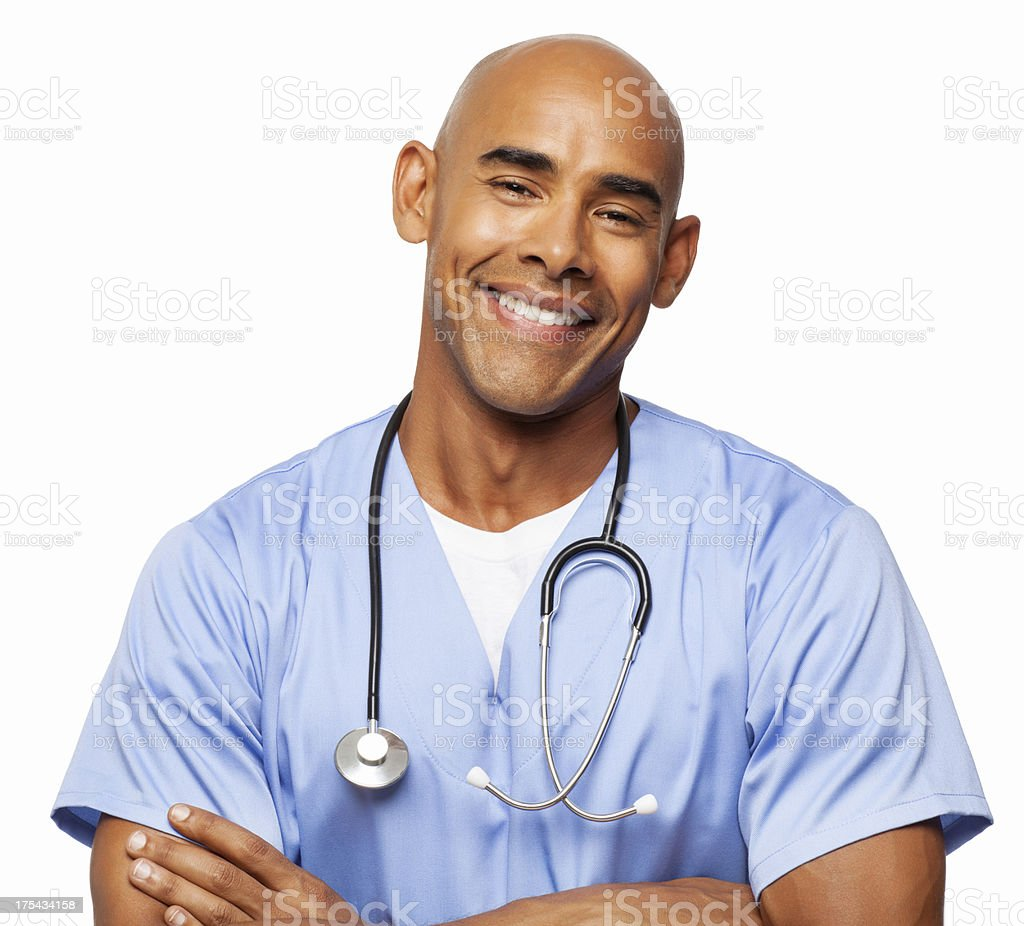 Happy Male Surgeon - Isolated royalty-free stock photo