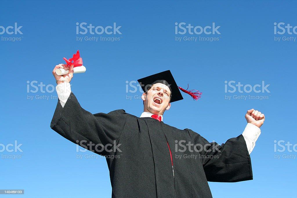Happy Man at Graduation royalty-free stock photo