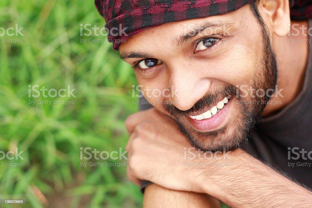 happy man looking at camera royalty-free stock photo