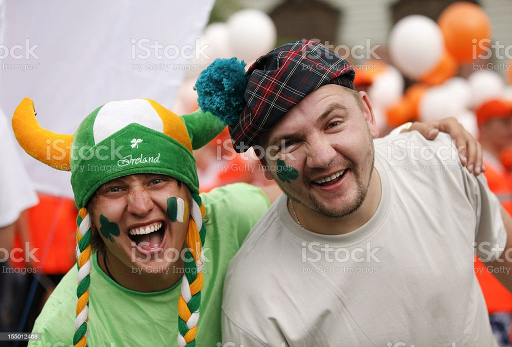 Happy man portrait (Saint Patrick's Day) royalty-free stock photo
