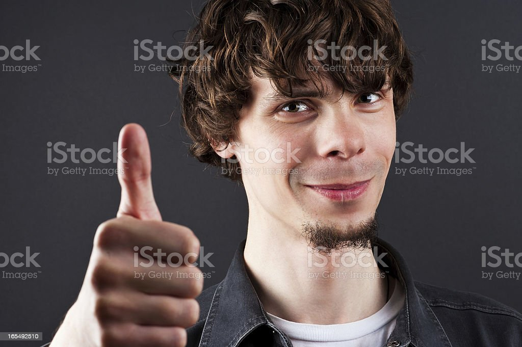 happy man showing a thumbs up royalty-free stock photo
