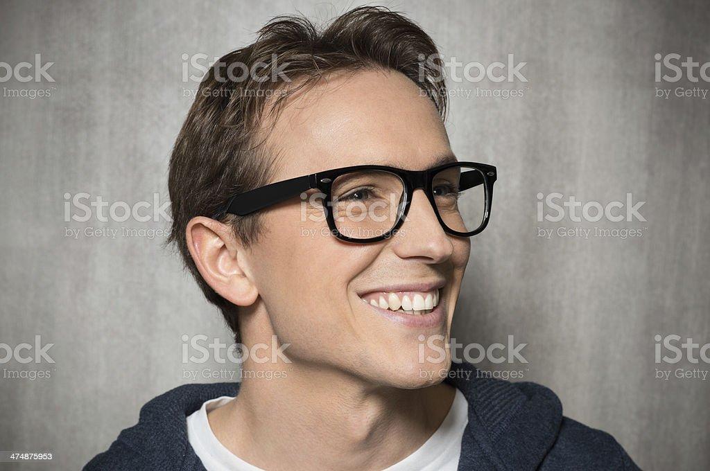 Happy Man With Eyeglasses royalty-free stock photo