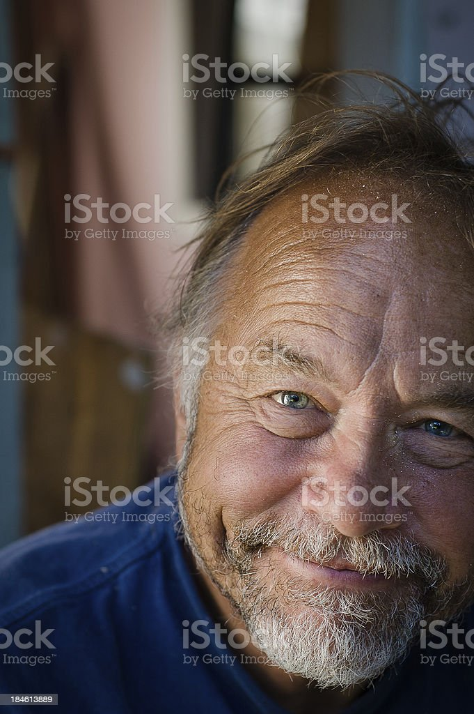 Happy Man with messy hair royalty-free stock photo