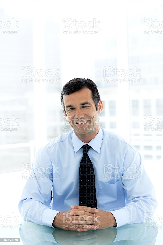 Happy Manager royalty-free stock photo