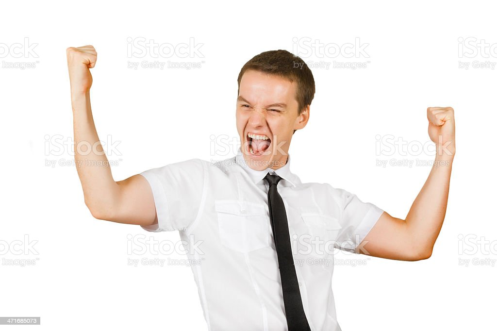 happy manager winning royalty-free stock photo