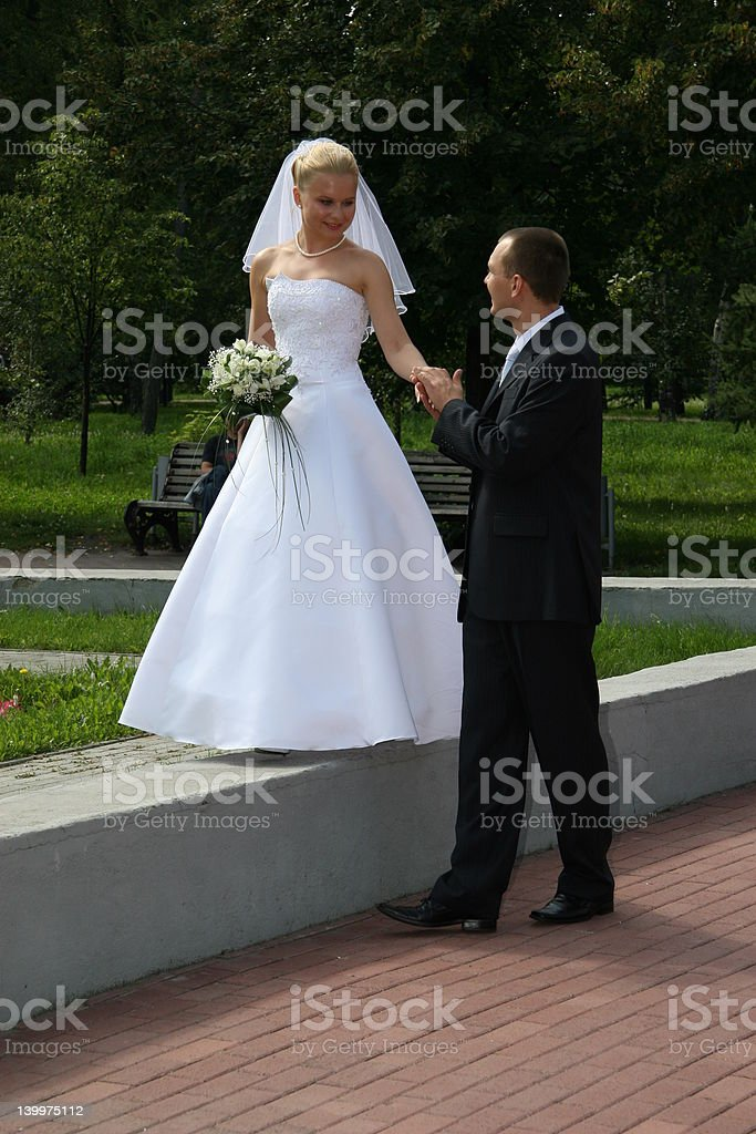 Happy married royalty-free stock photo