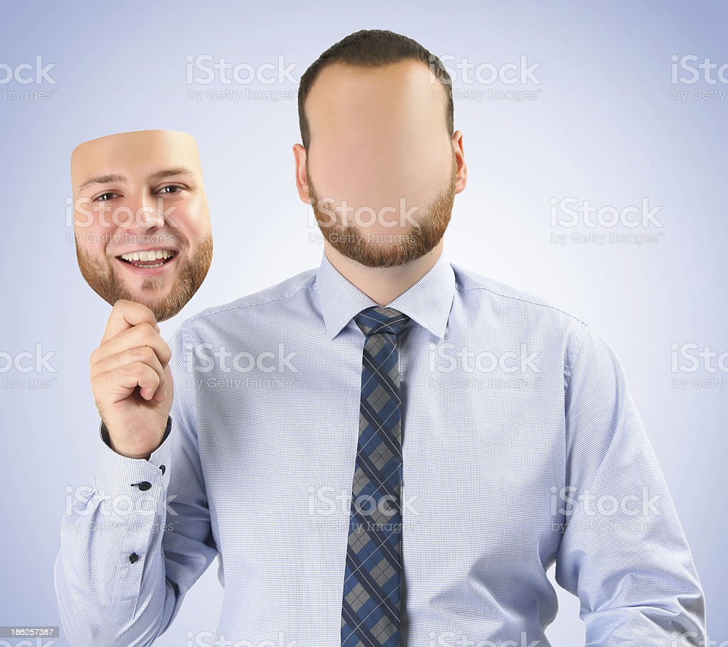 happy mask royalty-free stock photo
