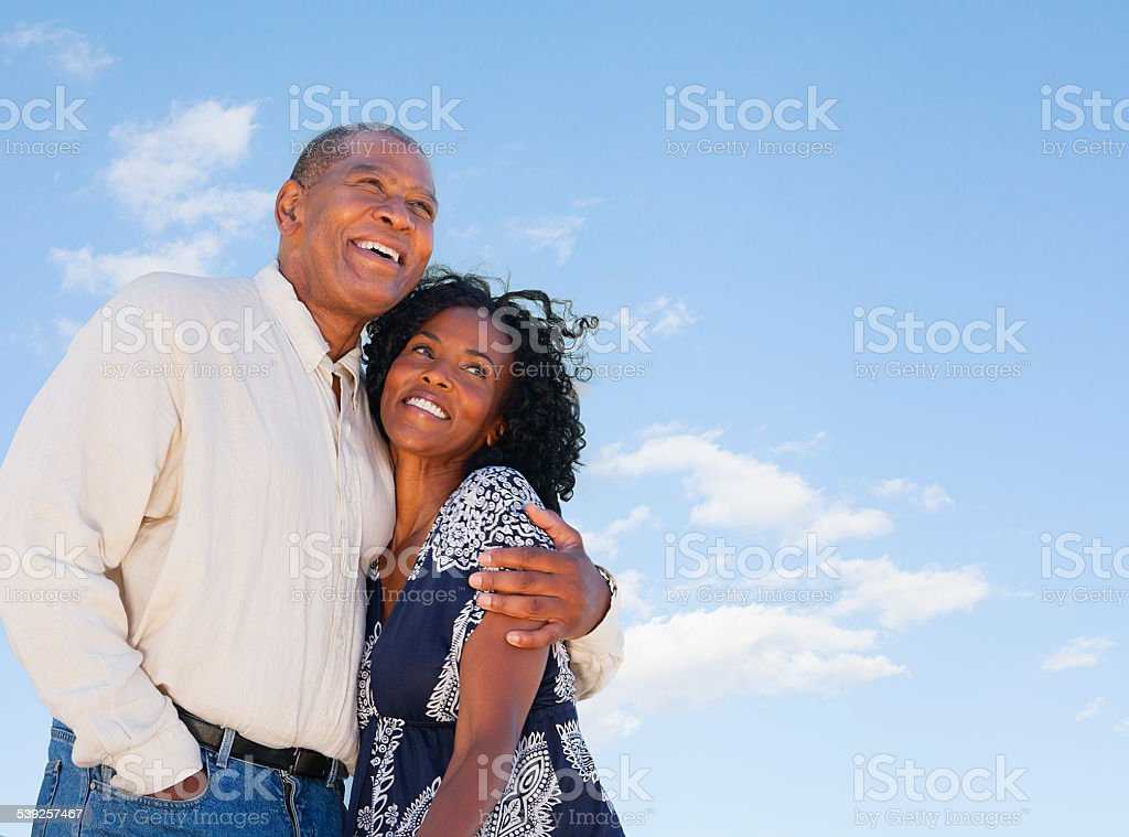Happy Mature African American couple stock photo