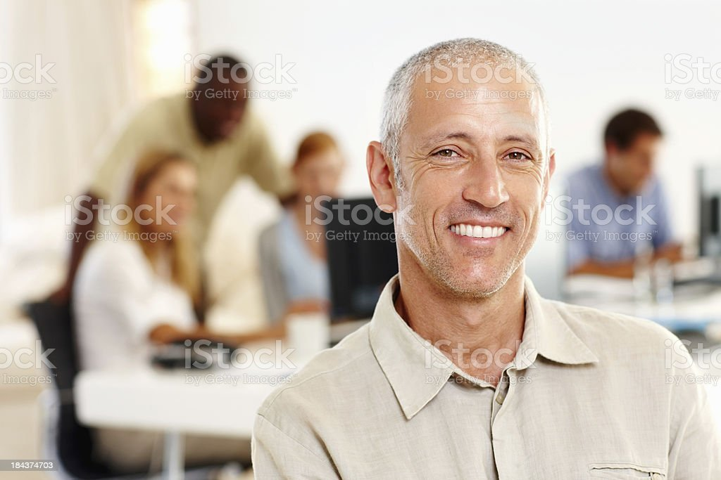 Happy mature business man royalty-free stock photo