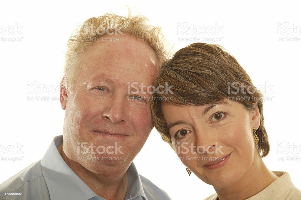 happy mature couple headshot royalty-free stock photo