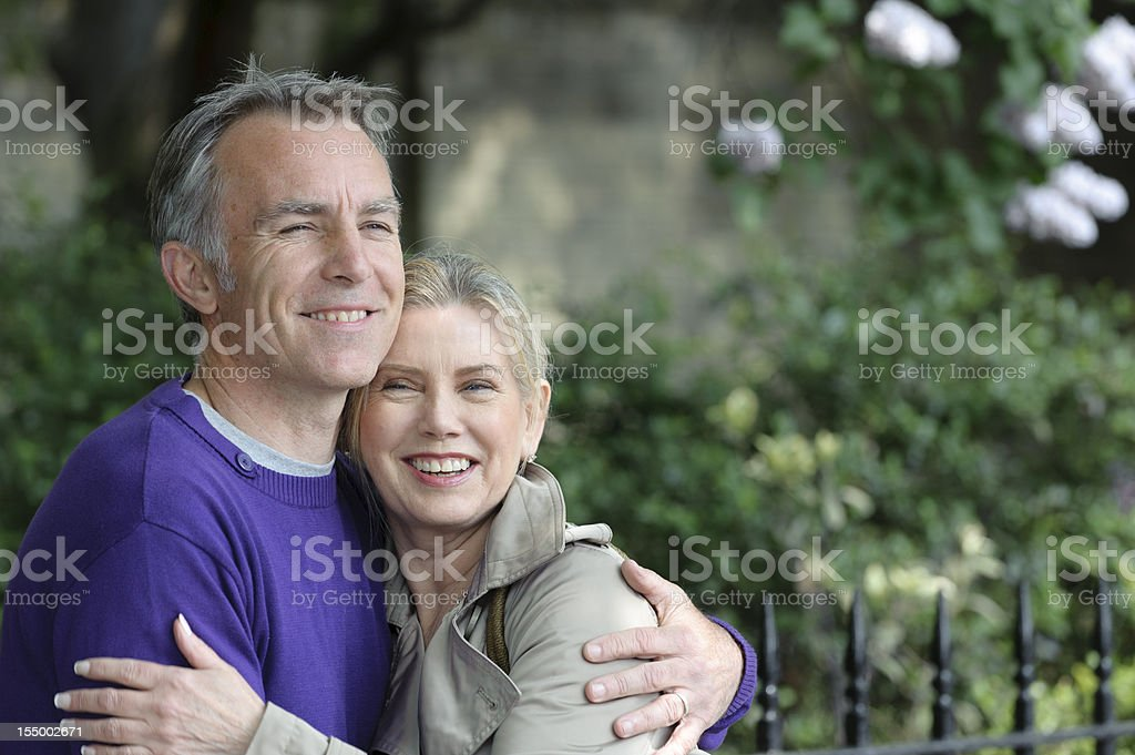 Happy Mature Couple Hugging royalty-free stock photo